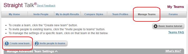 team communication profile